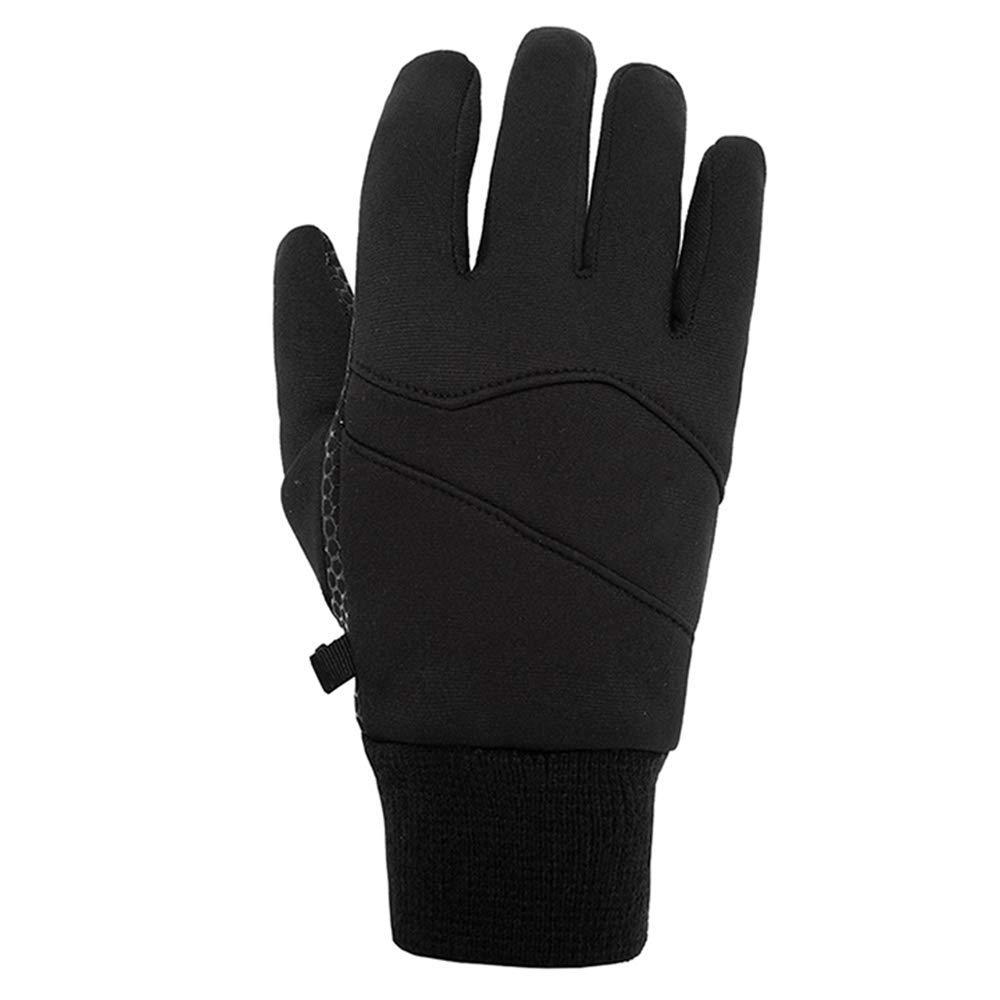 KIOio Outdoor-Männer und Frauen Rutschfeste Handschuhe tragen Winddichte warme Mode Fleece-Handschuhe (größe   L)