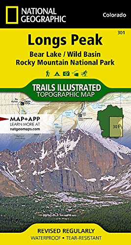 Longs Peak: Rocky Mountain National Park [Bear Lake, Wild Basin] (National Geographic Trails Illustrated Map)