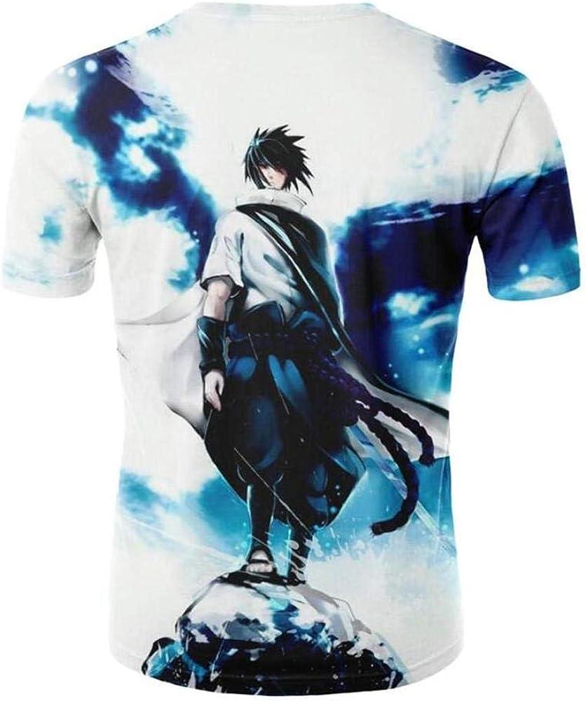 Camiseta Naruto Personajes De Anime Impresión En 3D Camiseta De Dibujos Animados Rayo Blanco 3XL 1: Amazon.es: Ropa y accesorios