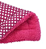 Mikey Store Soft Pet Cushion Soft Warm Sleep Mat Pet Bed Dog Puppy Cat Soft Cotton Warm Nest House Mat (Hot Pink)