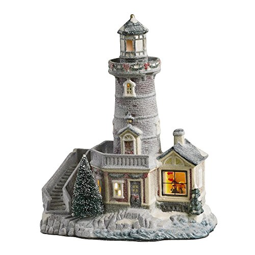 - Holiday Christmas Lighted Porcelain House - Light House