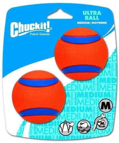 ChuckIt! Medium Ultra Balls 2.5-Inch, 2-Pack, My Pet Supplies