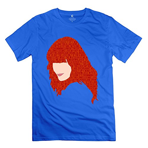 Cool Florence Welch And The Machine Men's Tee RoyalBlue Size XS (Christmas Songs Fast Beat)