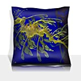Luxlady Throw Pillowcase Polyester Satin Comfortable Decorative Soft Pillow Covers Protector sofa 16x16, 1 pack Leafy sea dragon photographed in Indonesia 2009 IMAGE ID 6265397