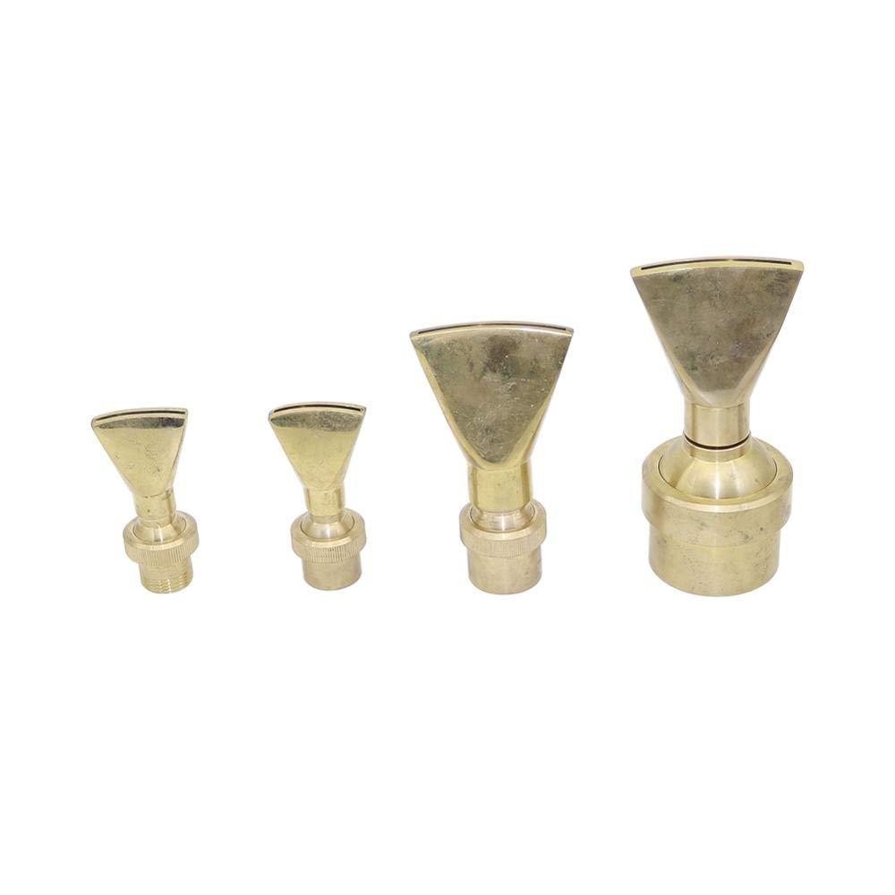 BIG-DEAL 1 Pc Ornamental Adjustable Brass Fan Shaped Fountain Nozzles 1/2'' 3/4'' 1'' 2'' Duckbill Jet Column Garden Landscape Sprinkler - (Color:1 inch)