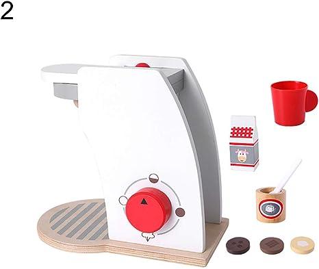 DNelo Niños Mini Madera de Simulación de Pan Café Licuadora Fingir ...