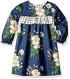Pink Chicken Baby Girls' Eve Dress, Dress Blue Floral/Tattersall, 12/18 Mos