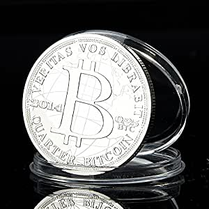 Buildent(TM) Bitcoin round coin commemorative coins metal Gold//Silver//copper plated coin BTC024