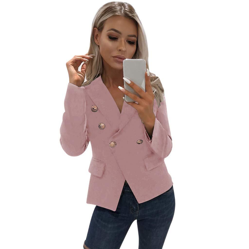Woman Coat Jaminy Women Long Sleeve Blazer Open Front Short Cardigan Suit Jacket Work Office Coat