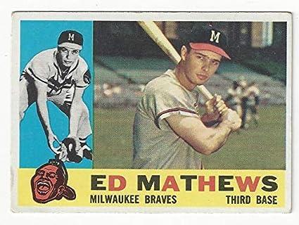 Amazoncom Vintage Ededdie Mathews Collectible Baseball