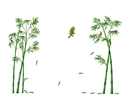 Charmant Gespout Sticker Mural Bambou Amovible Sticker Muraux Chambre Décor DIY  Décoration Self Adhesive Autocollant Meubles Porte
