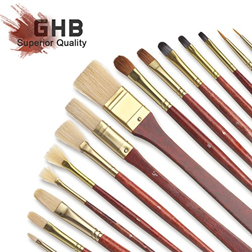 ghb-16pcs-paintbrush-set-art-set-for-oil-watercolor-acrylics-and-face-painting-long-handle-brushes-w