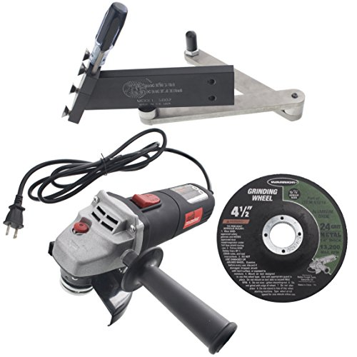 All American Sharpener 5002 Sharpener Kit for Standard Straight Lawn Mower Blades with Angle Grinder and Wheel by USA Mower Blades