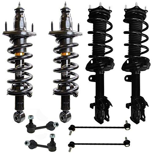 - Detroit Axle - 8pc Front Strut Coil Spring & Rear Shock Sway Bar Link Kit for 2007 2008 2009 2010 2011 Honda CR-V