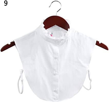 Camisa de cuello falso, cuello falso, blusa de solapa de ...