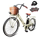 NAKTO 26' 250W City Electric Bicycle Sporting Shimano 6- Speed Gear...