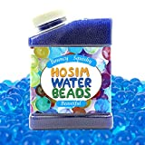 Hosim Water Beads Rainbow Mix, 50000pcs Beads Colorful Magic Growing Jelly Pearls Balls for Orbeez Spa Refill, Kid Tactile Sensory Toys, Furniture Decorative Vase Filler and Wedding Decor£¨Blue