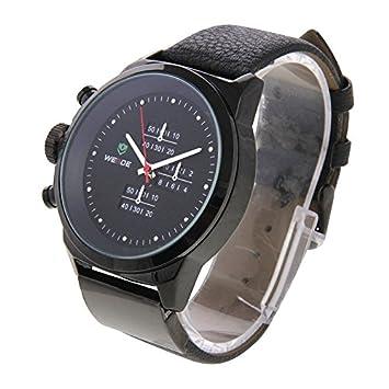 Relojes Hermosos, WEIDE WH3305 indicador de tipo de pantalla reloj de pulsera de 30 metros impermeable correa de cuero reloj de cuarzo deporte para hombres: ...
