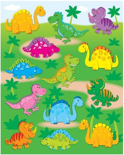 Carson Dellosa Dinosaurs Shape Stickers (168018)