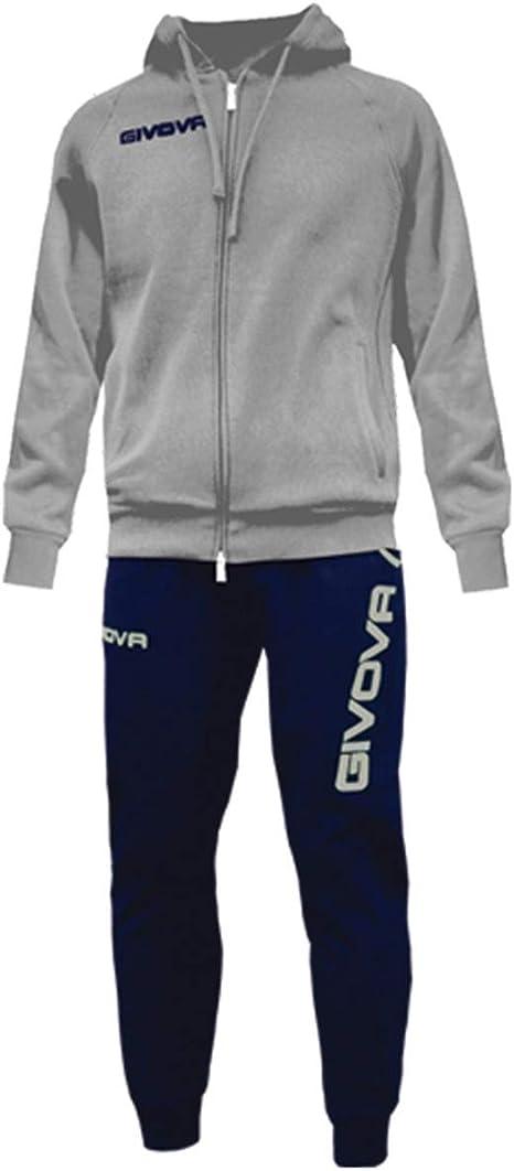 Giosal Completo Tuta Sportiva GIVOVA Allenamento New King Bicolore Unisex Uomo Donna