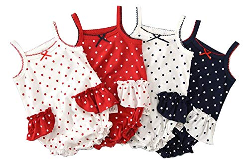 (Infant Baby Girls Sleeveless Onesies Tank Top Cotton Baby Bodysuit Pack of Baby Summer Colorful Clothes Outfit (18-24 Months))