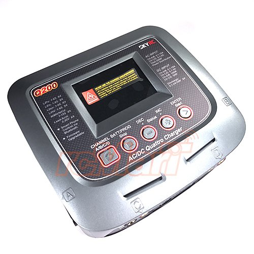 - SKYRC Q200 4 Output LCD Screen AC/DC Quattro Balance Charger / Discharger #SK-100104-08