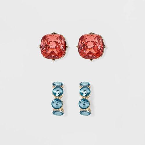 Amazon com: SUGARFIX by BaubleBar Crystal Earring Set, 1
