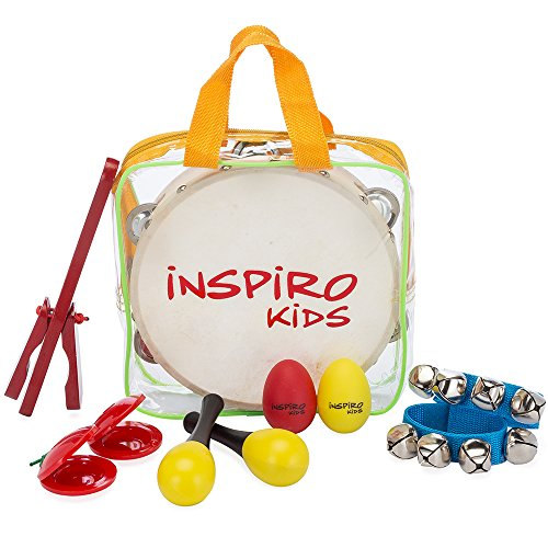 Inspiro Kids Musical Instruments Band-In-A-Bag Percussion Toys Value Set