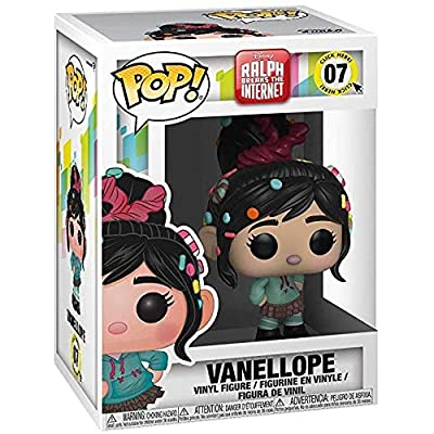 Funko Pop! Disney: Wreck-It Ralph 2 Ralph Breaks The Internet - Vanellope Vinyl Figure (Includes Compatible Pop Box Protector Case): Toys & Games