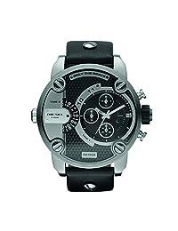 Diesel Men's Little Daddy DZ7256 Black Leather Analog Quartz Watch