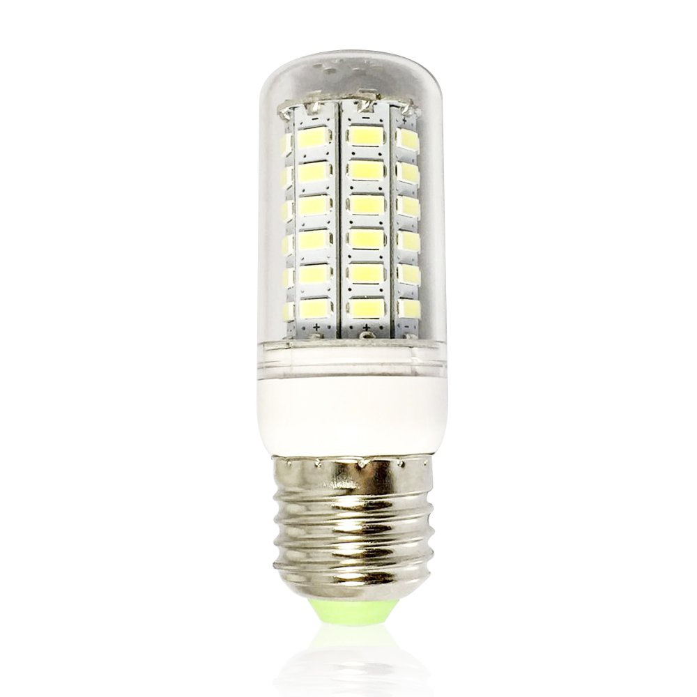 RCLITE 6-Pack 7W E26/E27 56-LED 5730 SMD LED Corn Bulb, 60 Watts ...