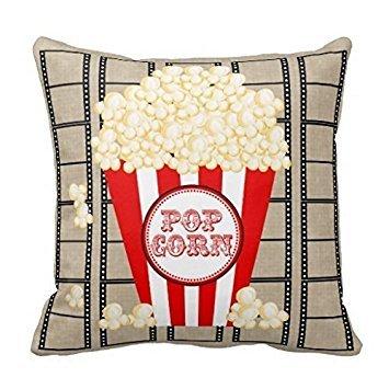 Price comparison product image Proven Movie Theater Popcorn and Film Decorative Pillow Case 18 x 18 inch