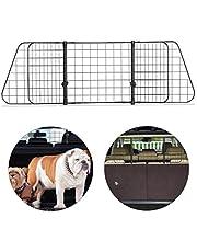 Relaxdays 10030965 hondenrooster, universeel, groot, verstelbare breedte, autorooster, afmetingen h x b 40 x 92-157 cm, zwart, 1 stuks