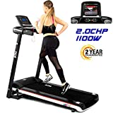 BTM A7 Motorised electric treadmill Folding Running machine 2019 Digital Control 2.0CHP Motor Up to 12.8KM/H 15 Programmes Walking Machine Portable Gym Equipment for Fitness Workout (black&white)