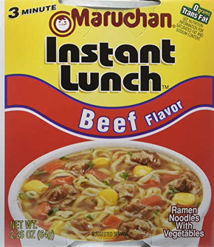 Instant Lunch Maruchan (Maruchan Instant Lunch Beef Flavor Ramen Noodles with Vegetables 2.25 oz (Pack of 12))