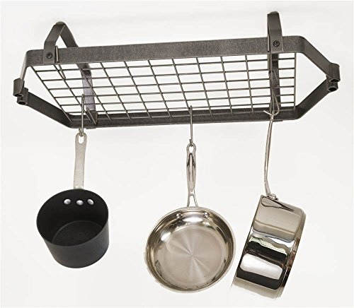- Decor Retro Low Ceiling Rectangular Pot Rack w Grid