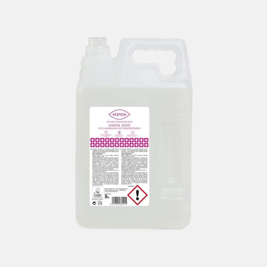 Detergente Lavavajillas Concentrado Green Zero Ecotech 5 Litros ...