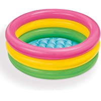 Intex-57107NP Piscina Hinchable, Color Rosa, Amarillo, Verde, 61 x 22 cm (57402)