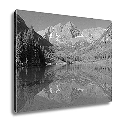 Ashley canvas maroon bells elk range rocky mountains colorado wall art home decor ready