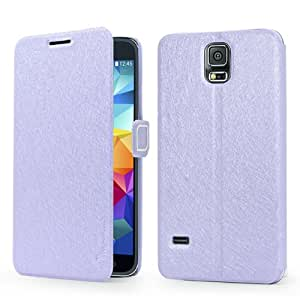 KCASE Thin Slim Fit Flip Leather Wallet Pouch Stand Back Case Cover For Samsung Galaxy S5 Purple