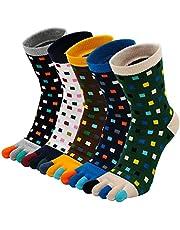 Teensokken Heren Sportsokken Vijf Vingersokken Katoenen Sneaker Sokken met 5 tenen, Toe Socks for Men, EU39-44, 3/4/5 paar