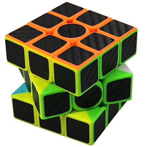 FC MXBB 3X3 Magic Cube Carbon Fiber Sticker 3X3X3 Speed Cube 56mm - Brain Teasers Twist Toys for (Halloween Brain Teaser)