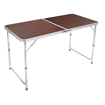 Yuan Table Mesa y sillas Plegables de Metal al Aire Libre ...