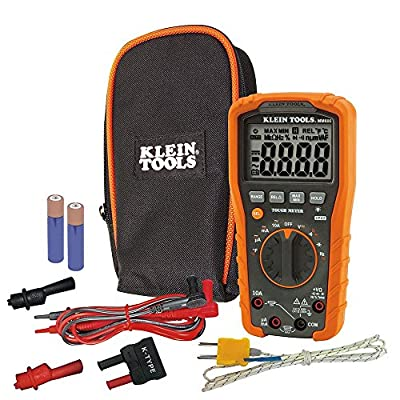 Klein Tools MM600 HVAC Multimeter, Digital Auto-Ranging Multimeter for AC/DC Voltage, and Current, Temperature, Frequency, Continuity, More (Renewed)