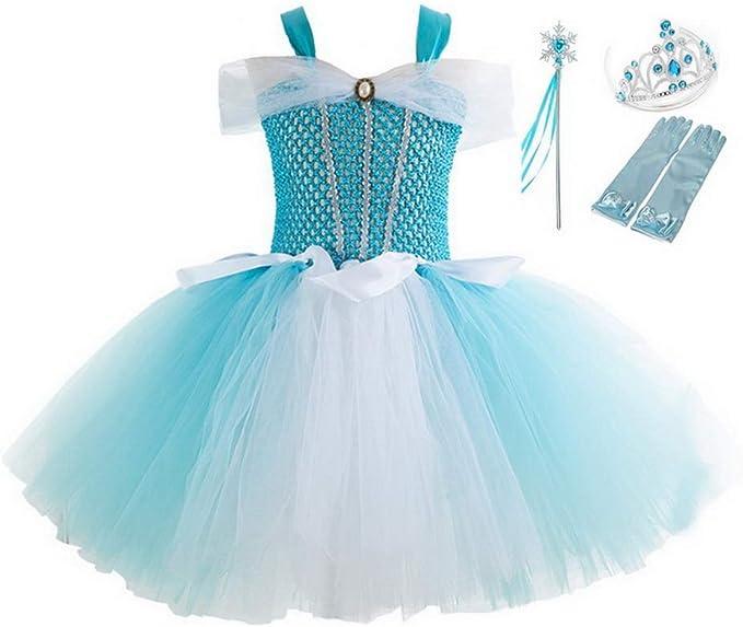 yeesn Disfraz de Princesa Aurora para niñas, tutú de Ballet para ...
