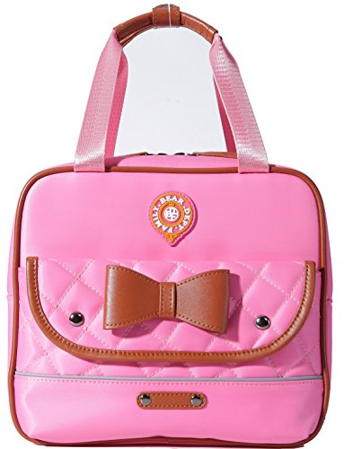 Cute Cat Face Bow Diamond Bling Waterproof Pink School Backpack Girls Lunch bags (Lunch pink)