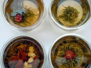 Heavenly Tea Leaves Organic Flowering Tea Sampler Gift Set - Assortment of 15 Organic Flowering Tea Blossoms