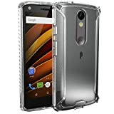 Moto Droid Turbo 2 Case, POETIC Affinity Series Premium Thin/No Bulk/Slim fit/Clear/Dual Material Protective Bumper Case for Moto Droid Turbo 2 (2015) Frosted Clear/Clear
