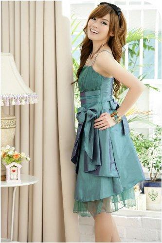 Peacock Sposa Bow Abito Plaer Vendita Green Dress Prom Color Satin Caldo Sera Big Da l1TK3FJcu