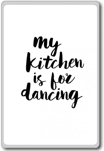 Dance With The World Motivational Quotes Fridge Magnet